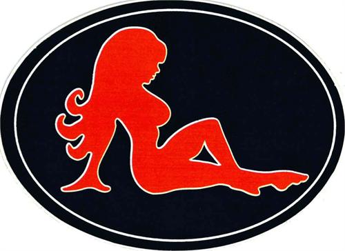 Truck Flap Girl - Sticker - 3 1/2 x 2 1/2