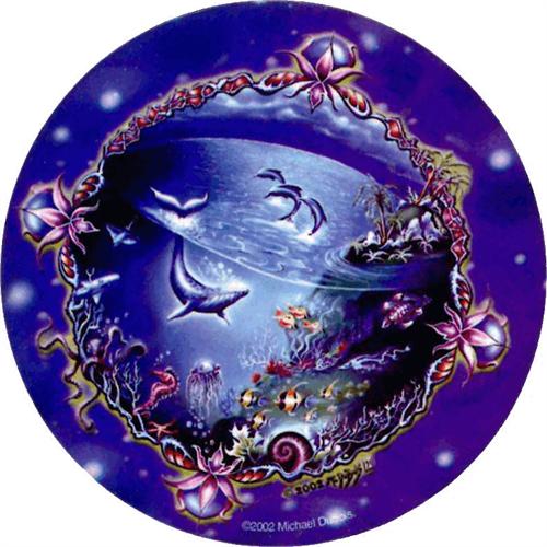 """Underseas - Mike Dubois  - Round Sticker - 2 1/2"""" Round"""