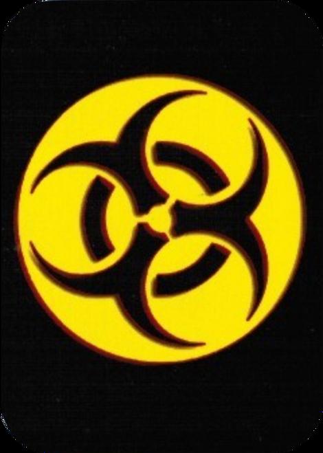 """Biohazard Symbol - Sticker - 2 1/2"""" X 3 3/4"""""""