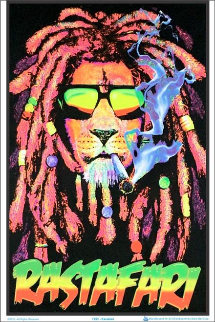 Product Image for Rastafari Lion Black Light Poster