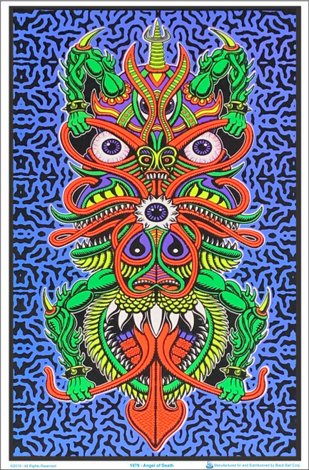 Product Image for Angel Of Death Chris Dyer Black Light Poster