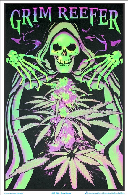 "Skeleton Samurai Blacklight Poster 23/"" x 35/"""