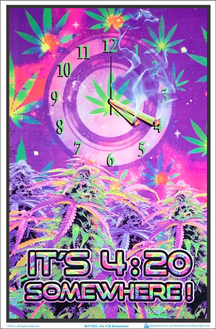 Product Image for It's 420 Somewhere Black Light Poster