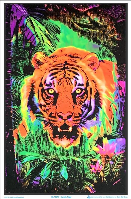 Product Image for Jungle Tiger Black Light Poster