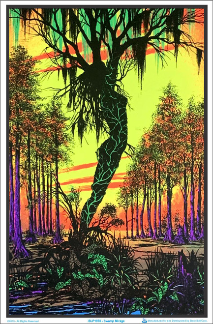 Product Image for Swamp Mirage Black Light Poster
