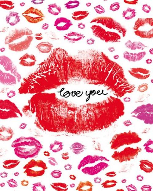 "Love You - Lips 16""x20"" Art Print Poster"