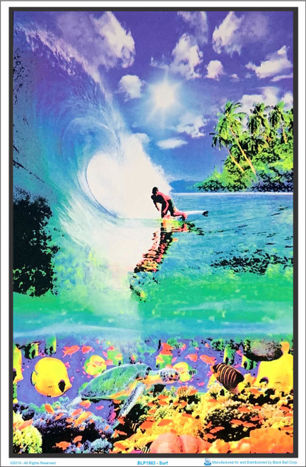 Product Image for Surf Reef Black Light Poster