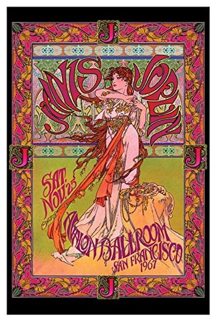 Concert 1967 Janis Joplin SF Avalon Ballroom Promo Poster 24 in x 36 in