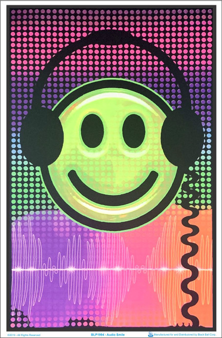 Product Image for Audio Smile Black Light Poster