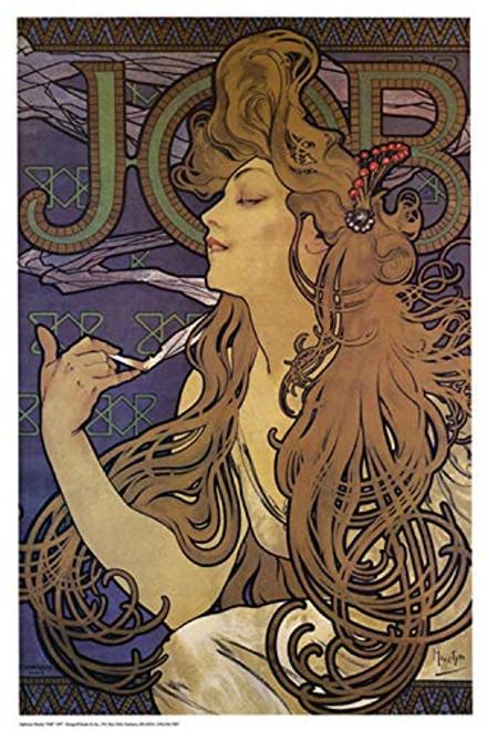Job Poster by Alphonse Mucha 24 x 36in