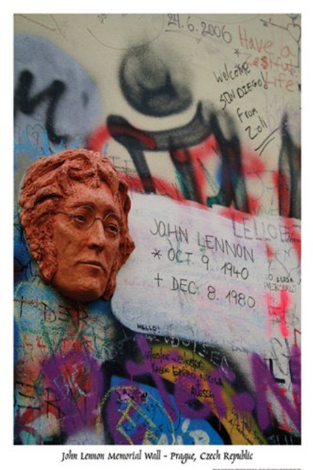 Lennon Memorial Wall Poster 24x36