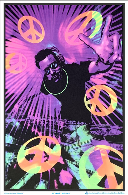 Product Image for DJ Peace Black Light Poster