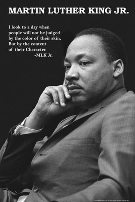 Martin Luther King Jr. Character Poster 24x36