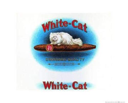 White Cat Cigar Brand Poster (16x20)