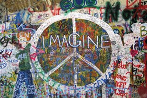 Peace Wall Imagine Poster Image