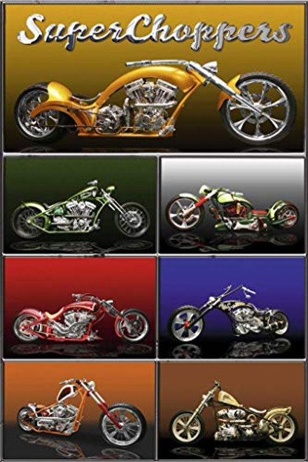 """The American Chopper SuperChoppers Motorcyle 24"""" x 36"""""""