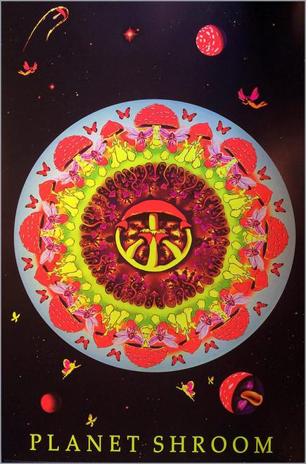 Product Image for Planet Shroom Non-Flocked Black Light Poster