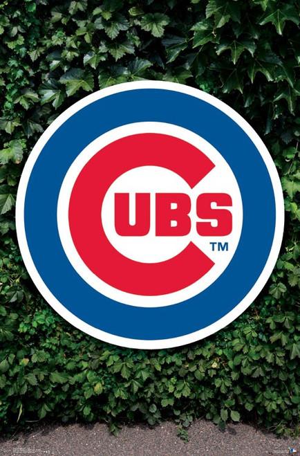 "MLB Chicago Cubs - Logo Poster - 22.375"" x 34"""
