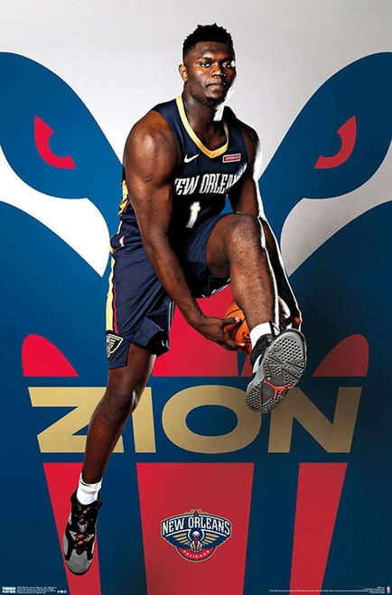 """NBA New Orleans Pelicans - Zion Williamson Poster - 22.375"""" x 34"""""""