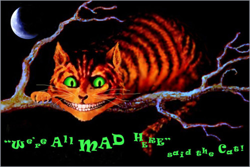 Product Image for We're All Mad Here Non-Flocked Black Light Poster