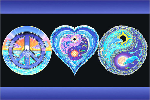Product Image for Peace Love & Happiness Non-Flocked Blacklight Poster