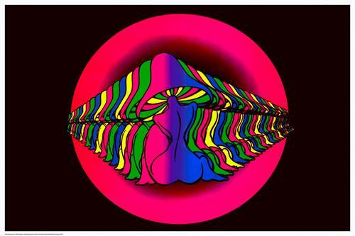 Product Image for Mushroom Girl Non-Flocked Black Light Poster
