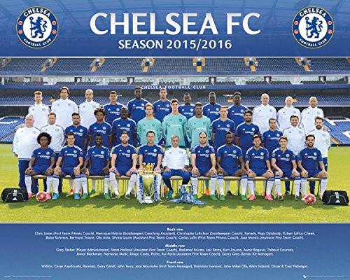 Football Mini Poster - Chelsea, Team Photo 2015/16 (20 x 16 inches)