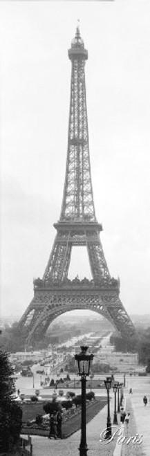 Poster Print Slim 1925 Paris Eiffel Tower 12x36