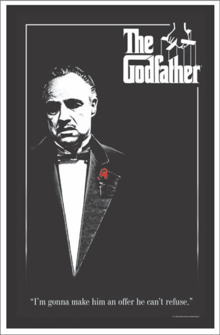 Product Image for The Godfather - Flocked Black Light Poster