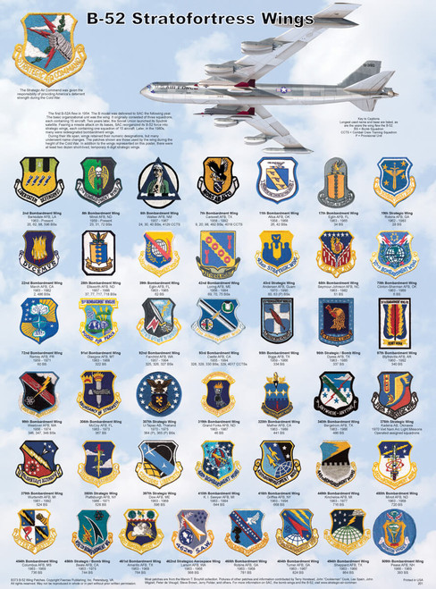 B-52 Stratofortress Wings Educational Poster 18x24