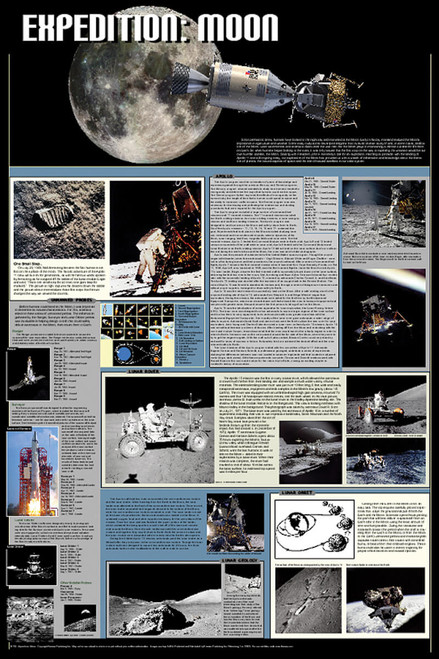 Expedition: Moon Educational Poster 24x36