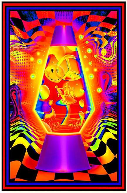 Lava Flow Non-Flocked Blacklight Poster Image
