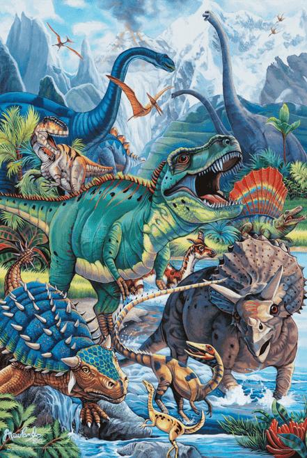 """Dinos by Jenny Newland Poster - 11"""" x 17"""""""