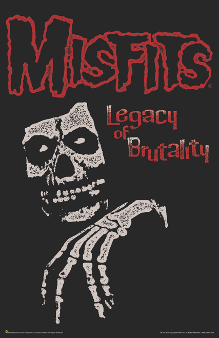"""Misfits - Legacy of Brutality Music Mini Poster- 11"""" x 17"""""""