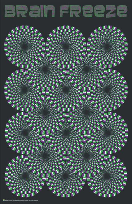 "Brain Freeze Psychedelic Mini Poster- 11"" x 17"""