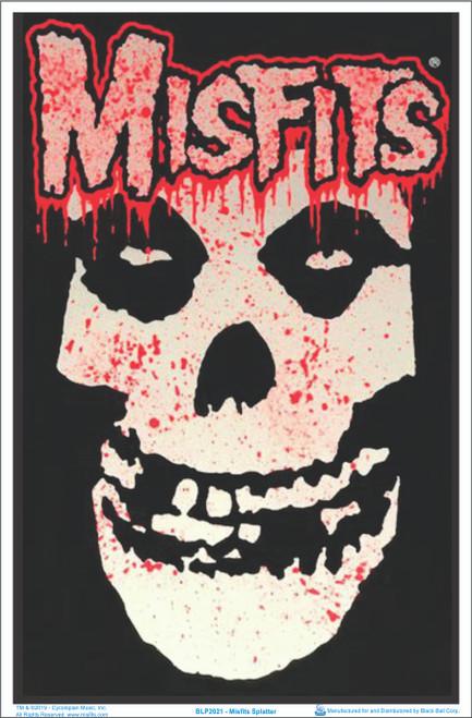 Misfits Splatter Blacklight Poster - Flocked Image