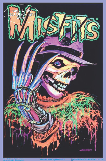 "Misfits Nightmare Fiend Blacklight Poster - Flocked - 23"" x 35"""