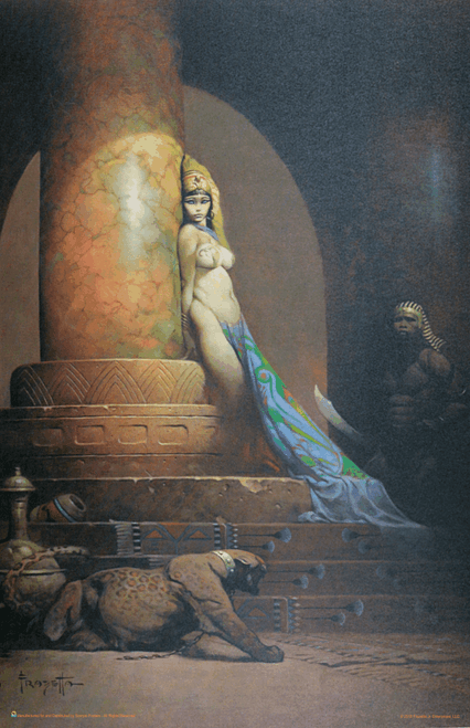 "Egyptian Queen by Frank Frazetta Fantasy Art Print Mini Poster- 11"" x 17"""