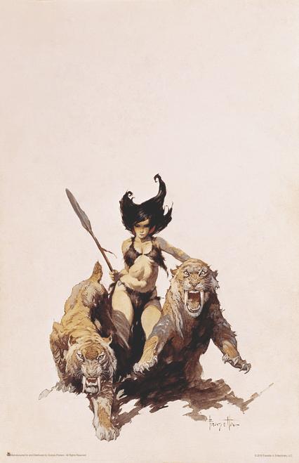 """The Huntress by Frank Frazetta Art Print Mini Poster- 11"""" x 17"""""""