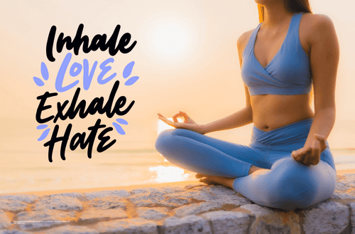 Inhale Love Exhale Hate Mini Poster - 17x11