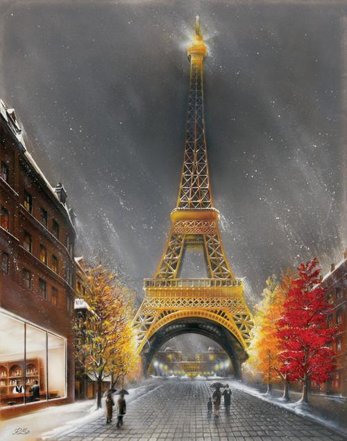 "La Tour Eiffel by Magrini Mini Poster - 11"" x 14"""