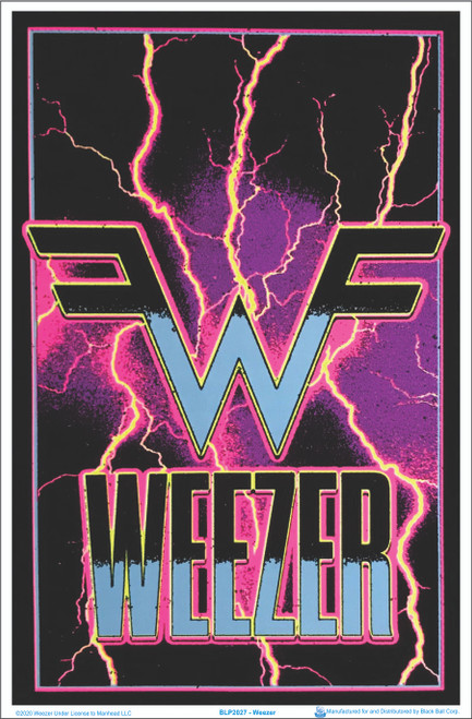 Weezer - Electric Flocked Blacklight Poster Image