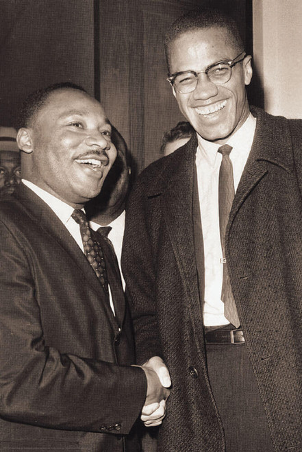 """The Meeting - Malcolm X & MLK Poster 24"""" x 36"""""""
