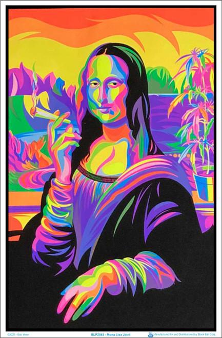 """Mona Lisa Joint Blacklight Poster - Flocked - 23"""" x 35"""""""