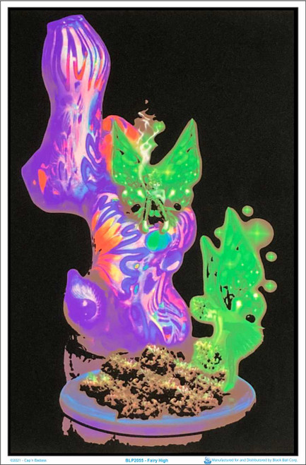 "Fairy High Blacklight Poster - Flocked - 23"" x 35"""
