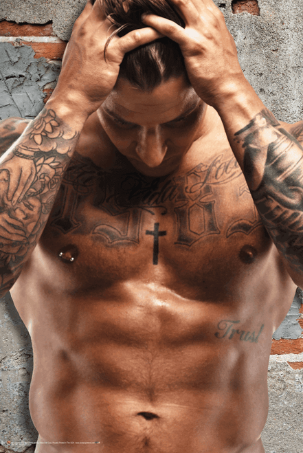 "Rugged Tattoos Poster 24"" x 36"""