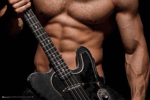 "Hot Guitar Poster 36"" x 24"""