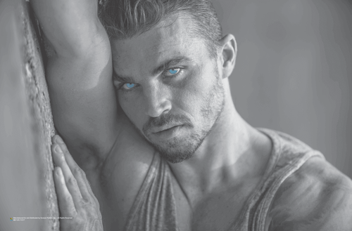"""Sexy Steely Blue Eyes Poster 17"""" x 11"""""""