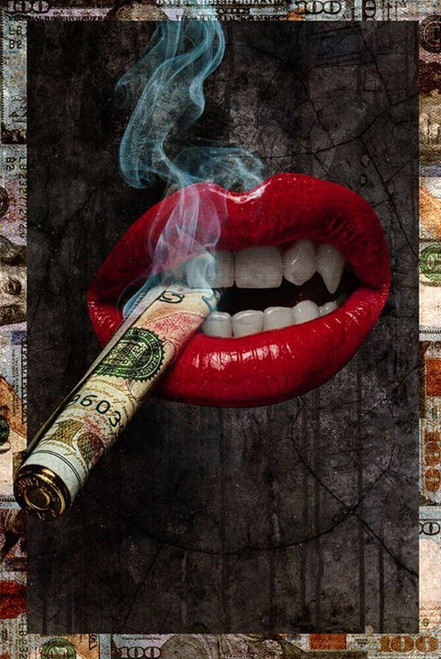 """Rich Lips by Daveed Benito Poster - 24"""" x 36"""""""