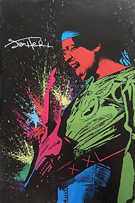 Jimi Hendrix Paint Splatter Poster 24x36 inches